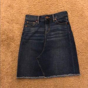 JCrew Denim Skirt 00